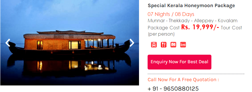 kerala honeymoon trip