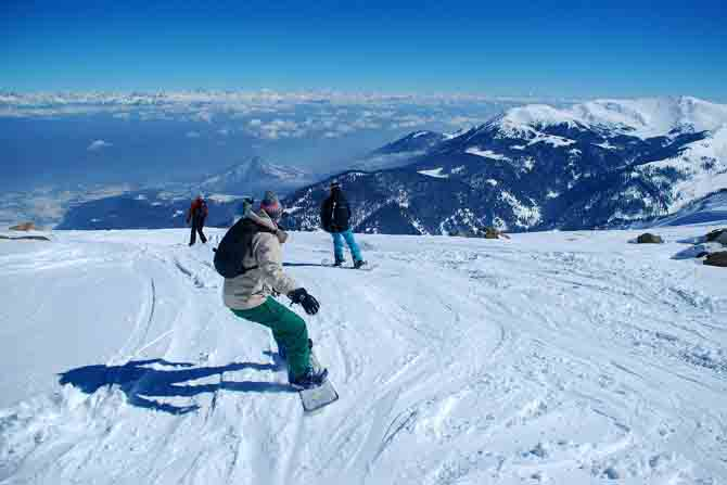 Skiing in himachal
