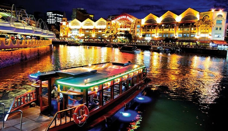 Board a River Cruise from Clarke Quay