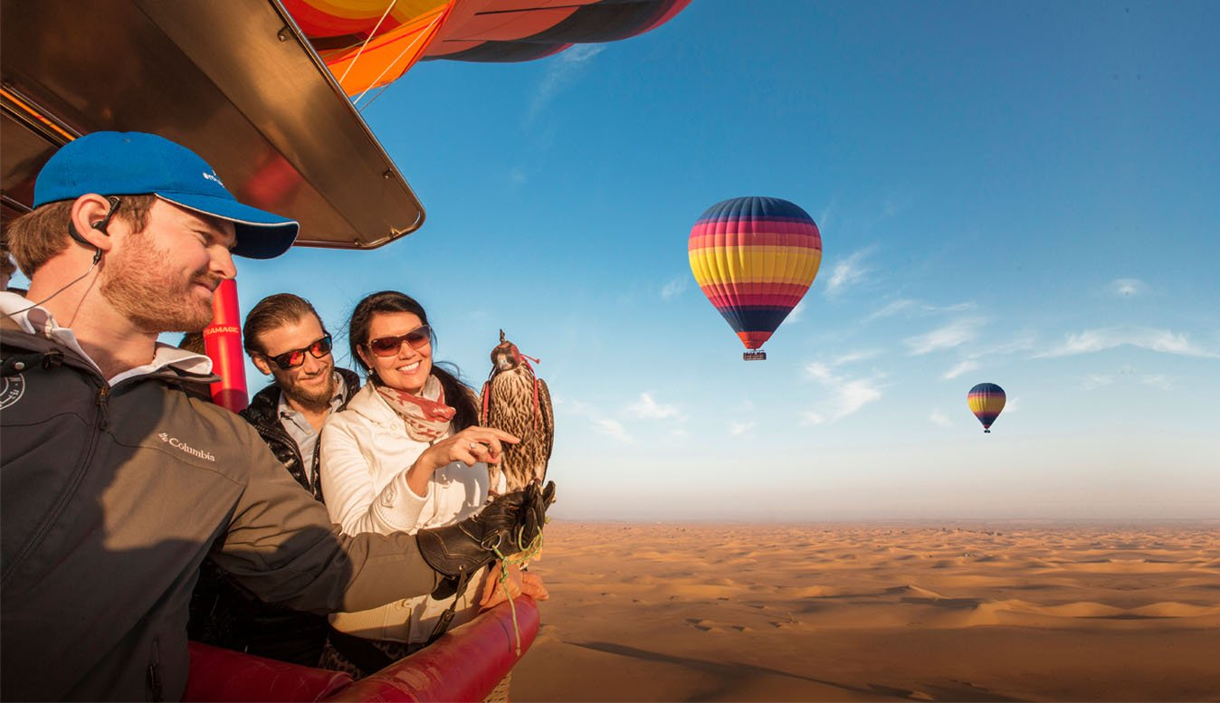 hot air balloon ride dubai
