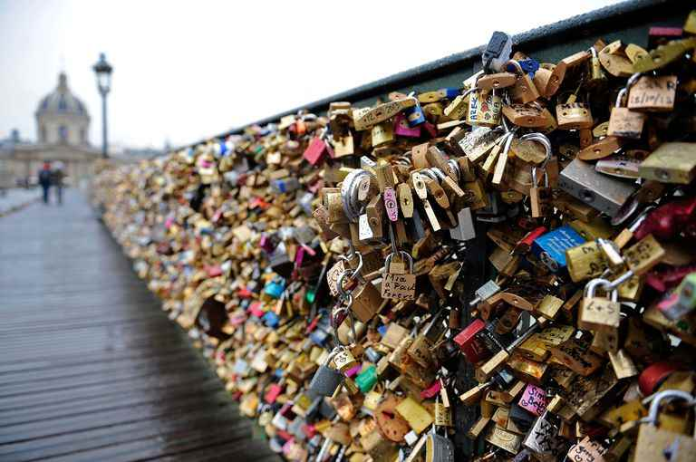 Take A Pic Of Lover's Lock - Paris - romantic date idea