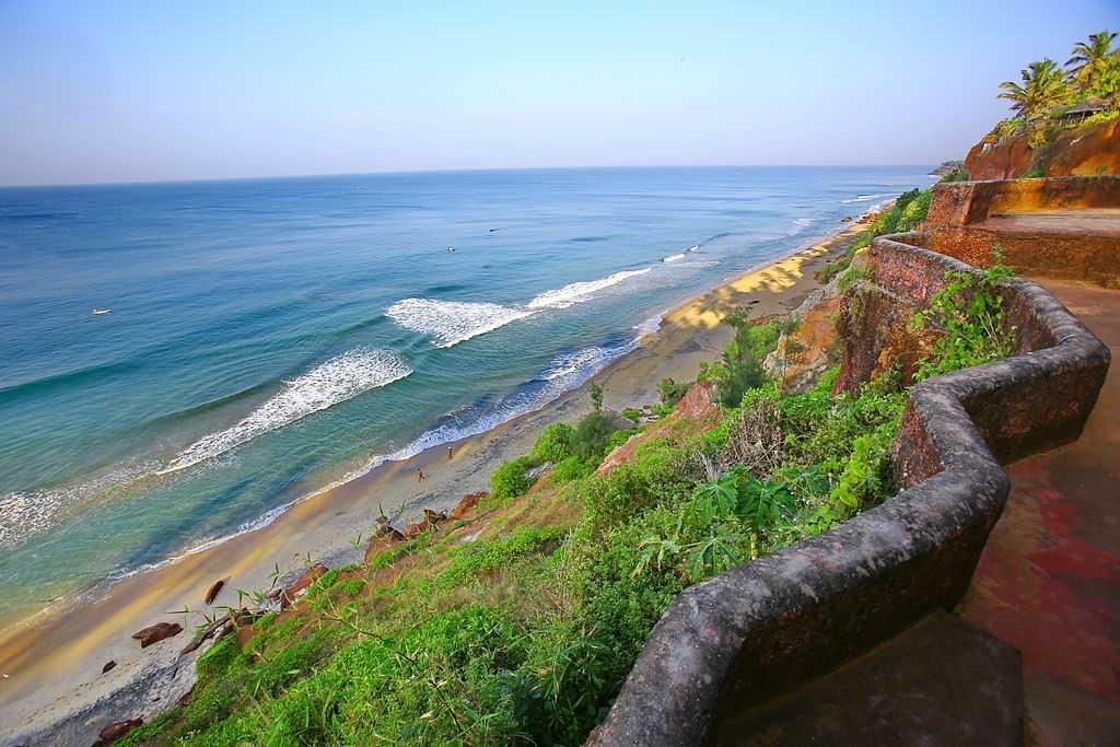 beach at Varkala, Kerala - Most Popular destination in South India