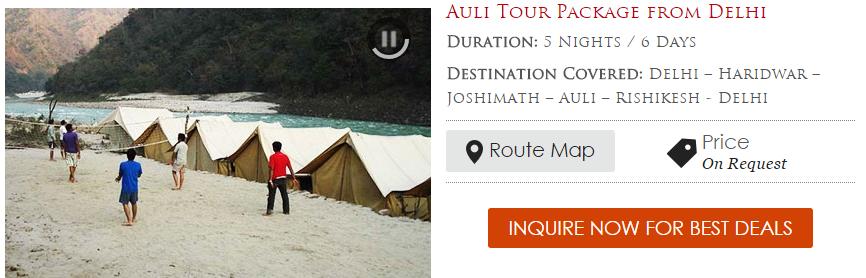 Auli Tour Package