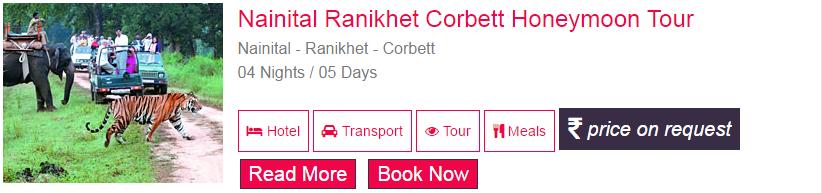 Nainital Ranikhet Corbett Honeymoon Tour