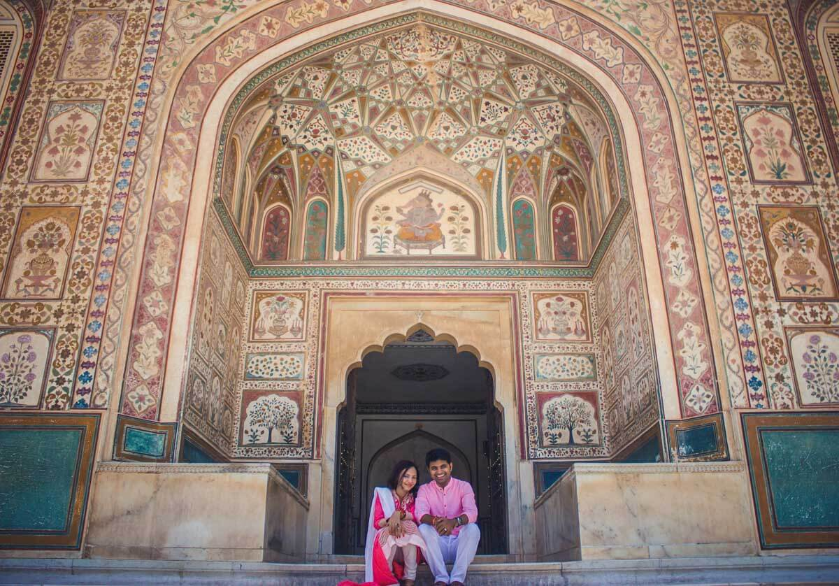 pre wedding photoshoot in Amber Fort, Jaipur1