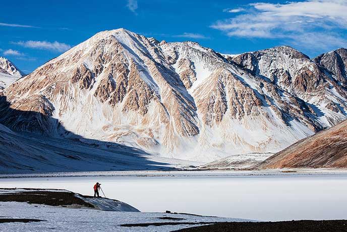 Snow Laden landscapes ladakh