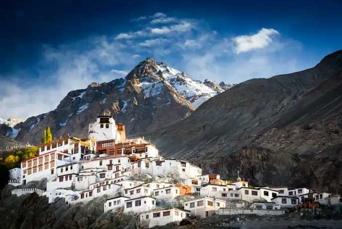 view of monasteries ladakh