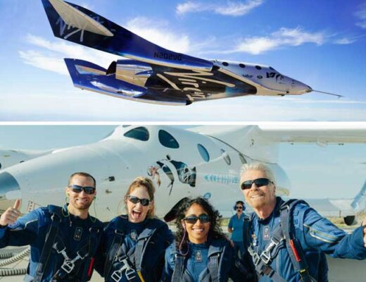 Richard Branson Successfully Completes His First Virgin Galactic Space Flight