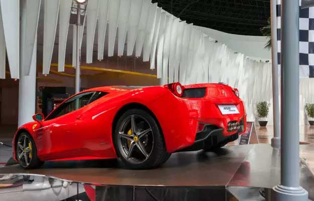 Indulge in the various joyful rides at Ferrari World theme park